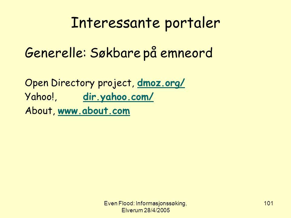 Interessante portaler