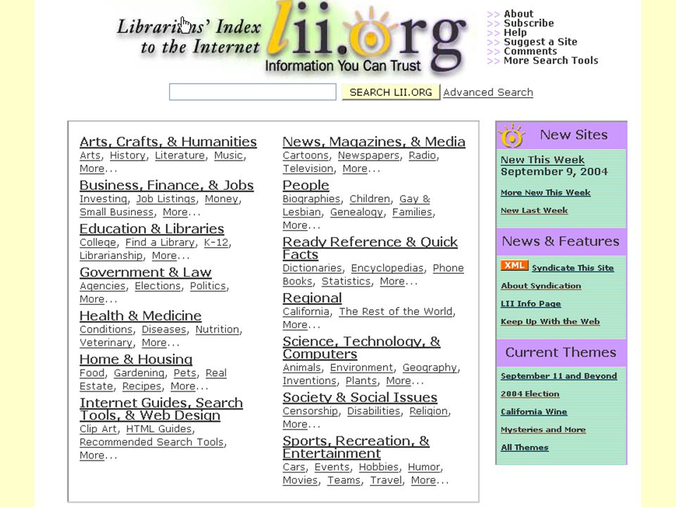 Librarians Index to the Internet