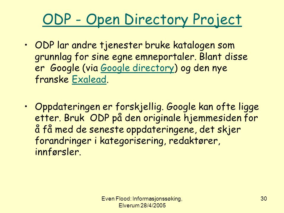 ODP - Open Directory Project