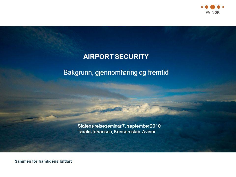 AIRPORT SECURITY Bakgrunn, gjennomføring og fremtid