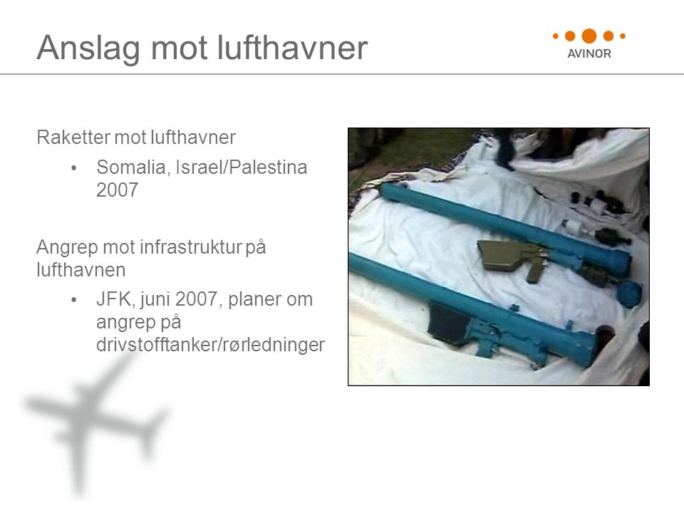 Anslag mot lufthavner Raketter mot lufthavner