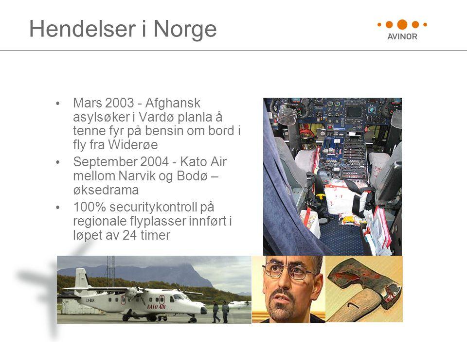 Hendelser i Norge Mars 2003 - Afghansk asylsøker i Vardø planla å tenne fyr på bensin om bord i fly fra Widerøe.