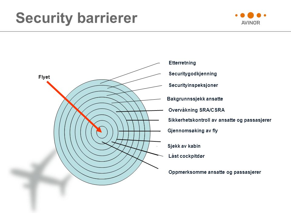 Security barrierer Oppmerksomme ansatte og passasjerer Flyet
