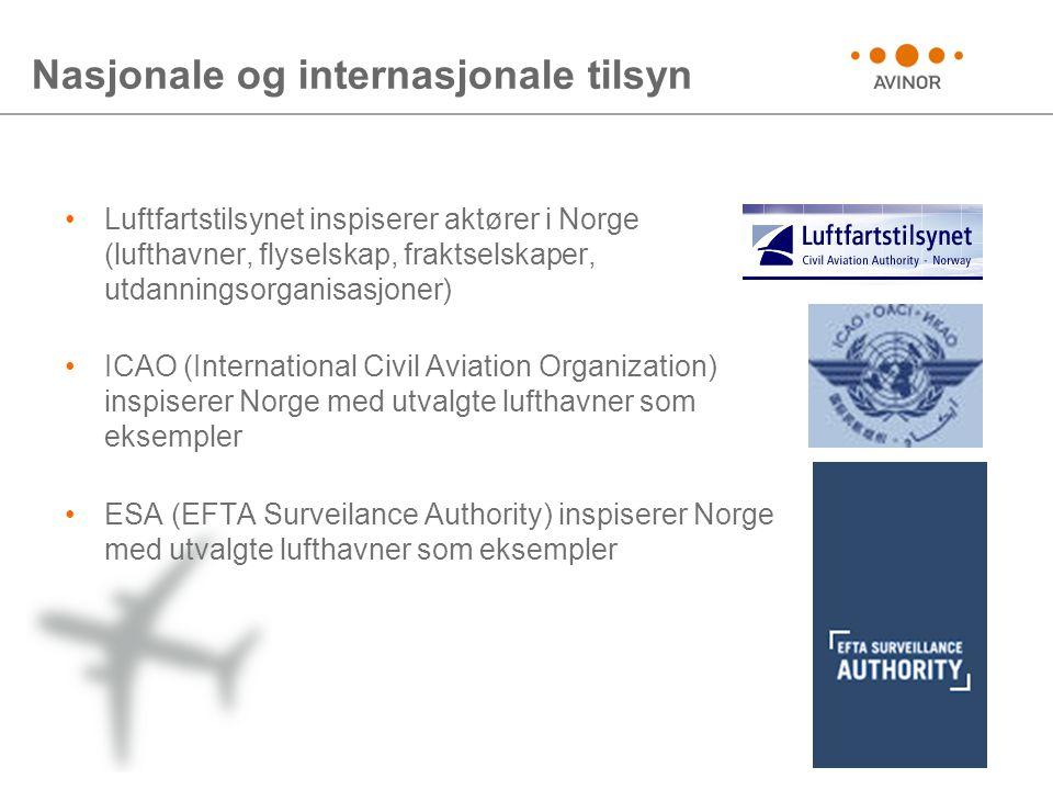 Nasjonale og internasjonale tilsyn