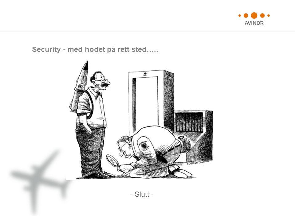 Security - med hodet på rett sted…..