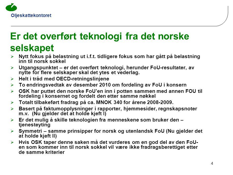 Er det overført teknologi fra det norske selskapet