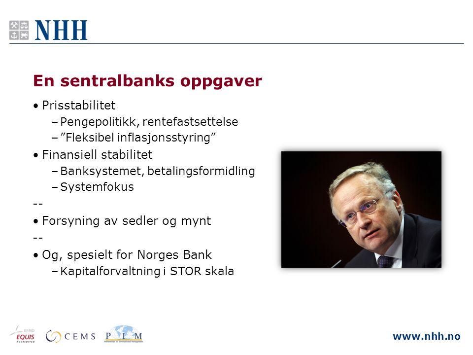 En sentralbanks oppgaver