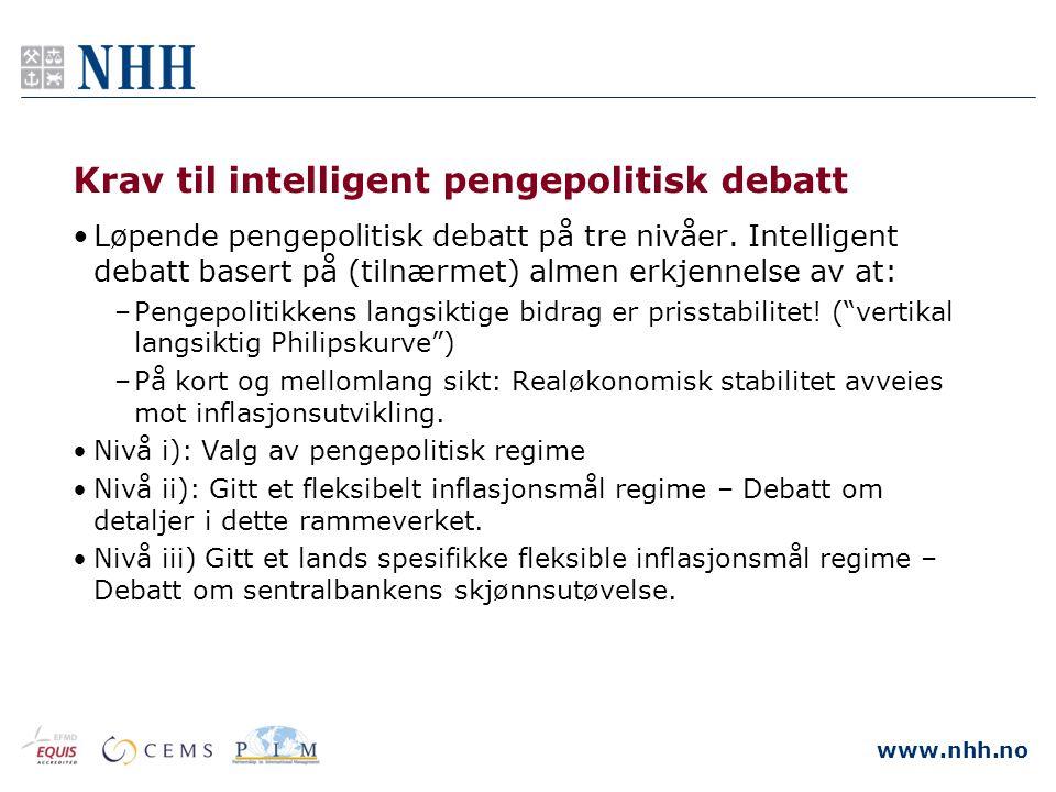 Krav til intelligent pengepolitisk debatt