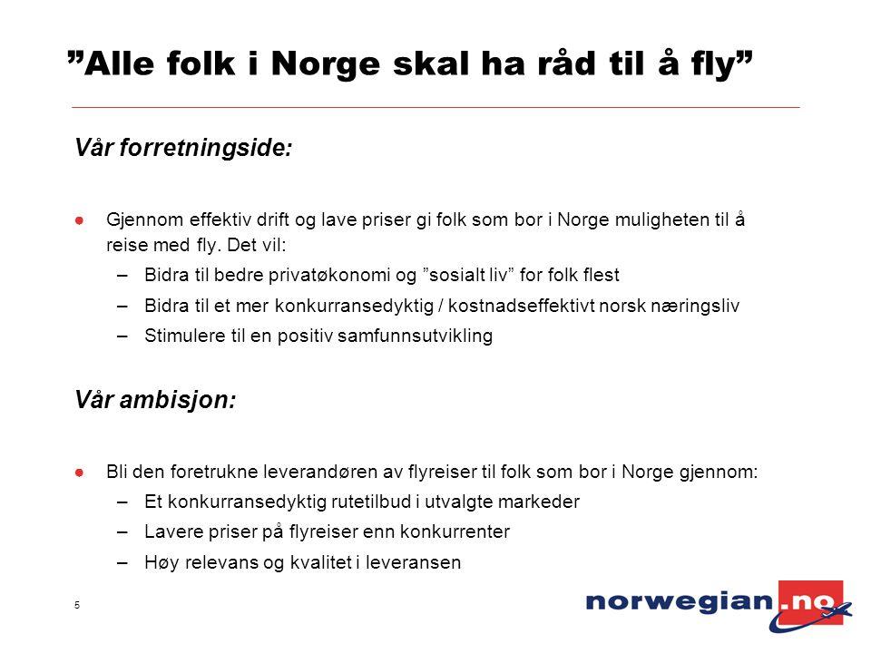 Alle folk i Norge skal ha råd til å fly