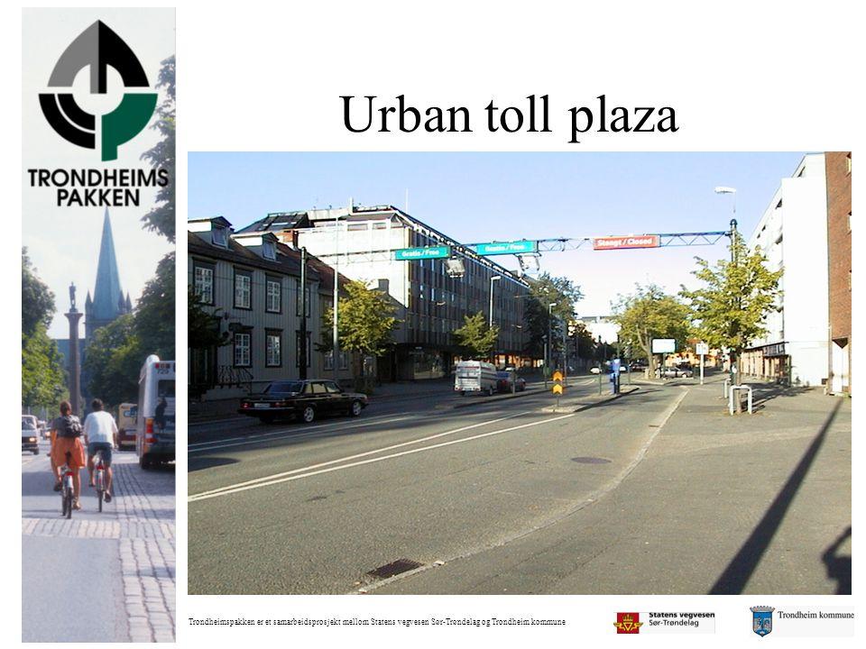 Urban toll plaza