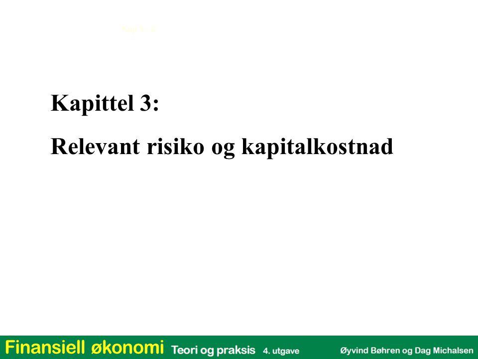 Kapittel 3: Relevant risiko og kapitalkostnad