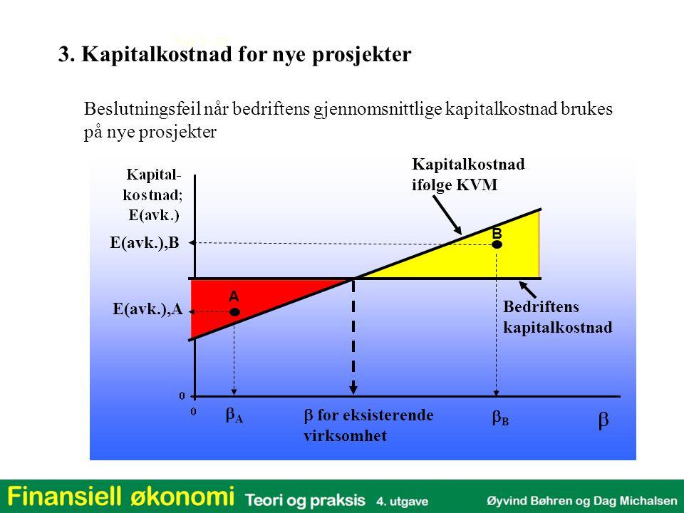 3. Kapitalkostnad for nye prosjekter