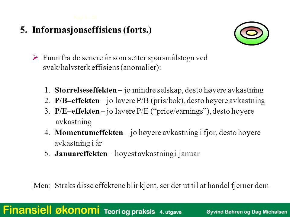 5. Informasjonseffisiens (forts.)