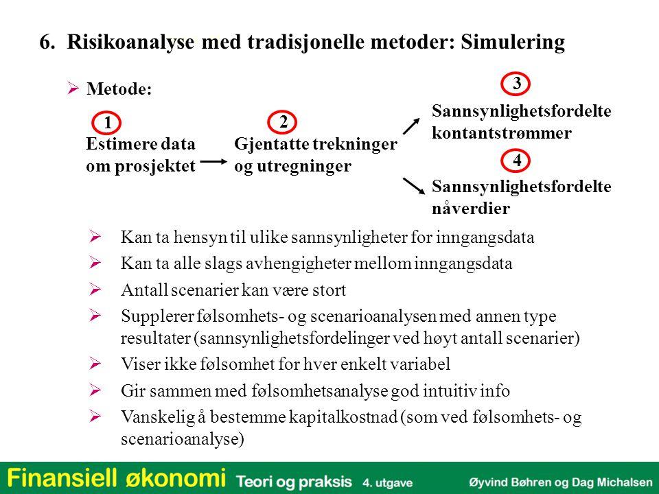 6. Risikoanalyse med tradisjonelle metoder: Simulering