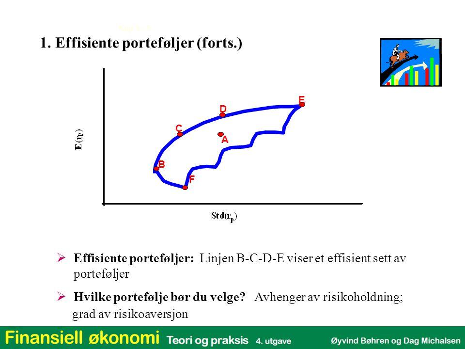 1. Effisiente porteføljer (forts.)