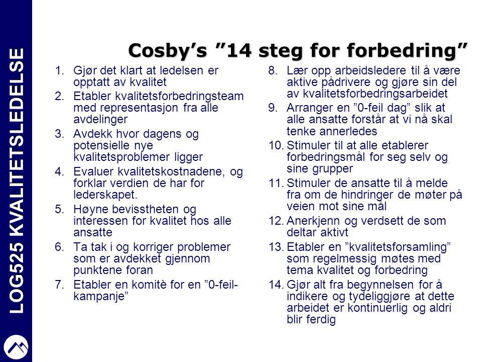 Cosby's 14 steg for forbedring