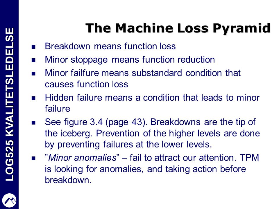 The Machine Loss Pyramid