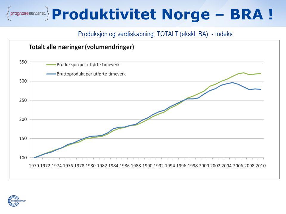 Produktivitet Norge – BRA !