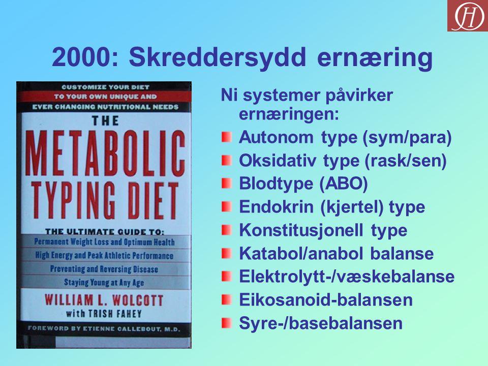 2000: Skreddersydd ernæring