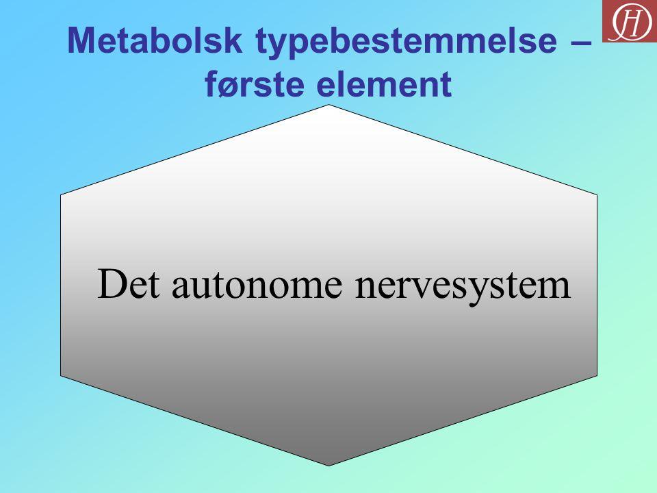 Metabolsk typebestemmelse – første element
