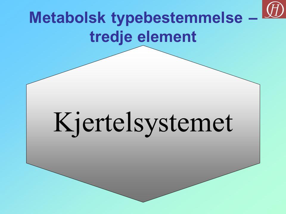 Metabolsk typebestemmelse – tredje element