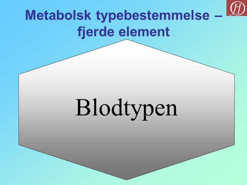 Metabolsk typebestemmelse – fjerde element
