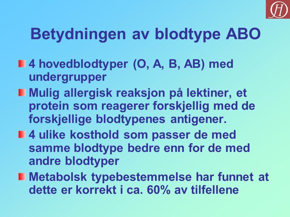 Betydningen av blodtype ABO