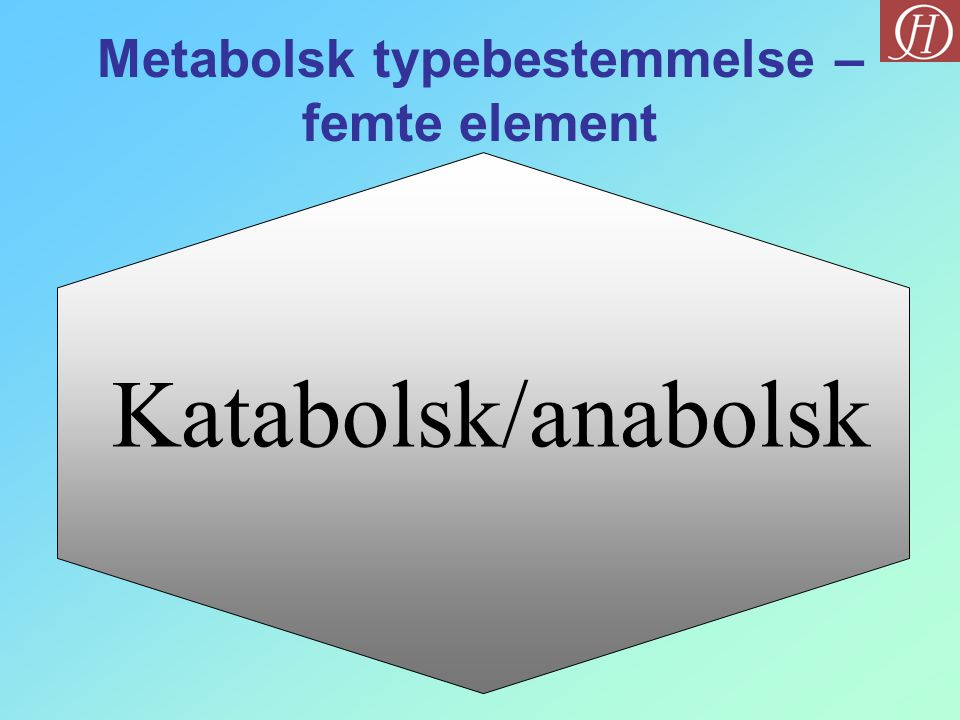 Metabolsk typebestemmelse – femte element