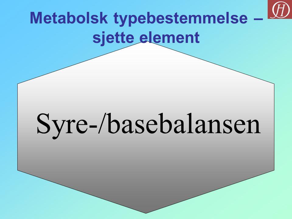 Metabolsk typebestemmelse – sjette element
