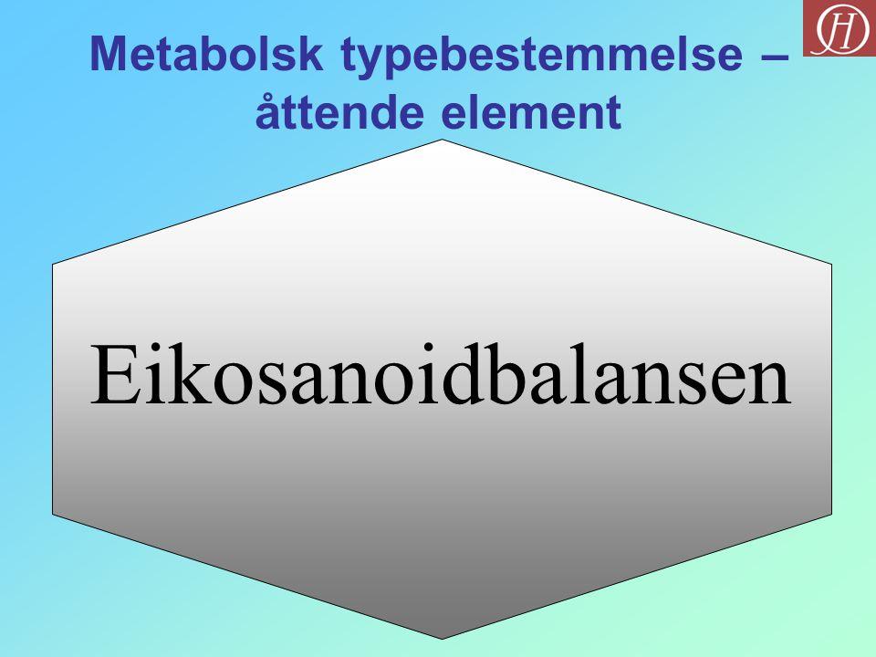 Metabolsk typebestemmelse – åttende element