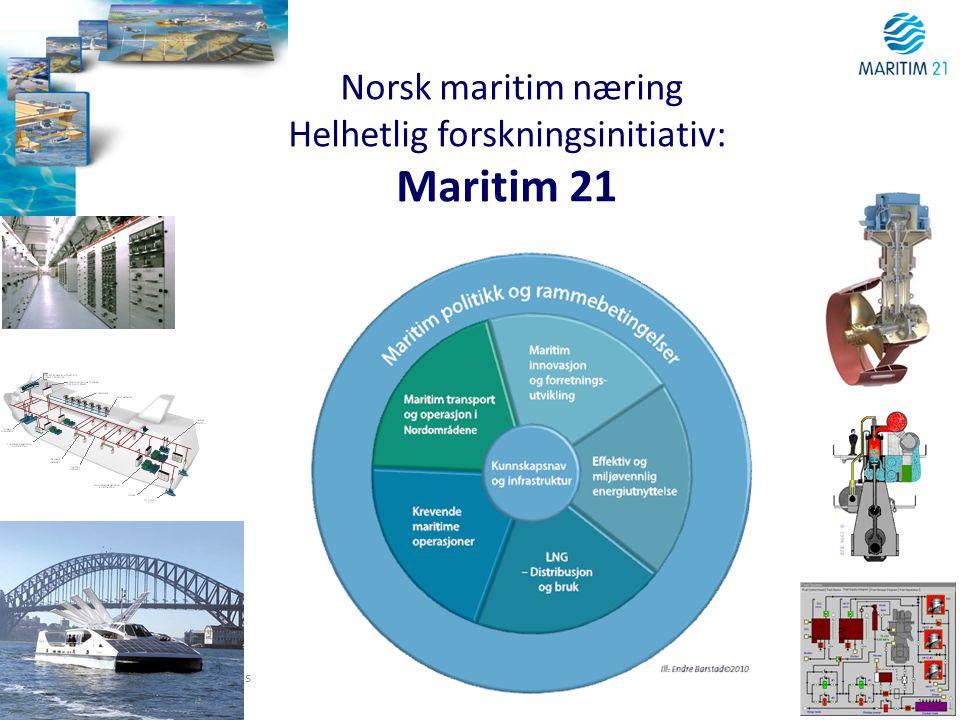 Norsk maritim næring Helhetlig forskningsinitiativ: Maritim 21