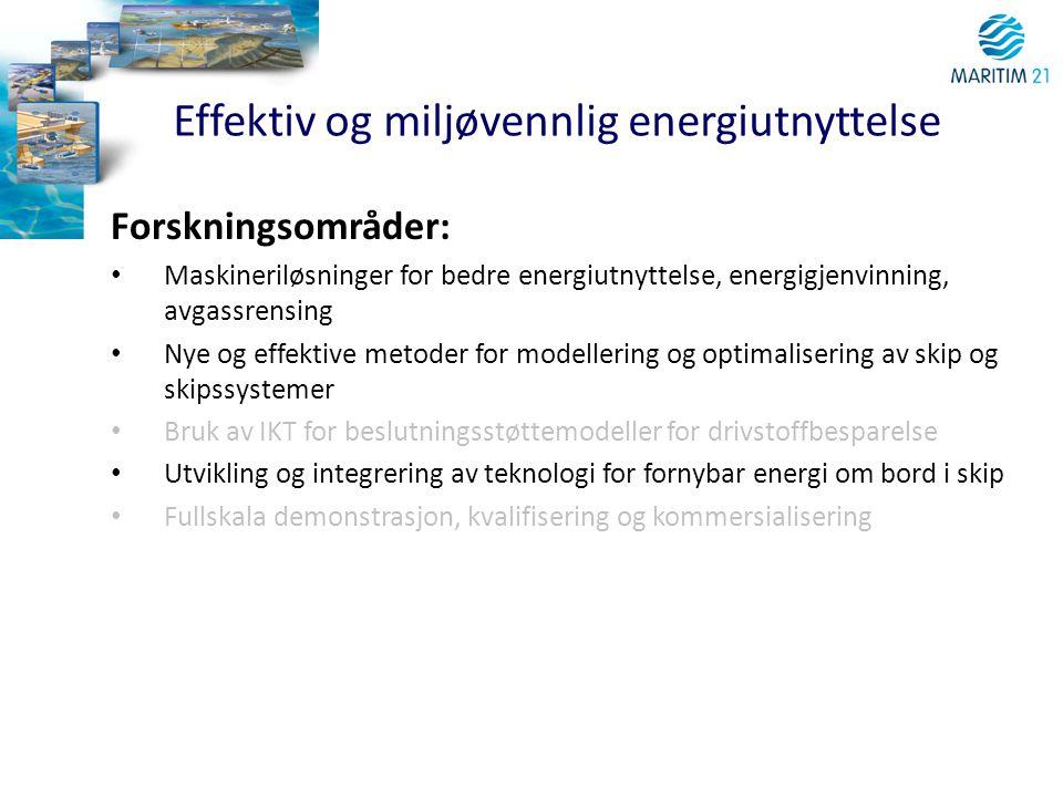Effektiv og miljøvennlig energiutnyttelse