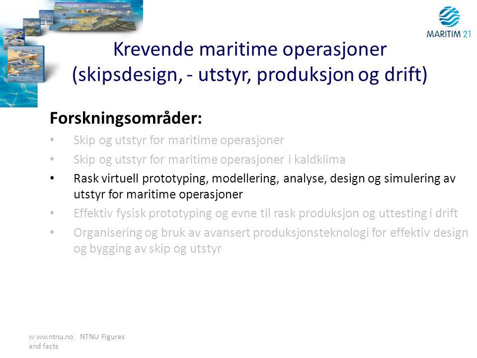 Krevende maritime operasjoner (skipsdesign, - utstyr, produksjon og drift)