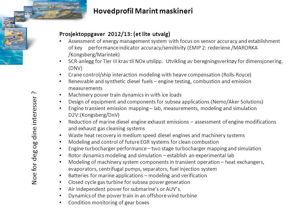 Hovedprofil Marint maskineri