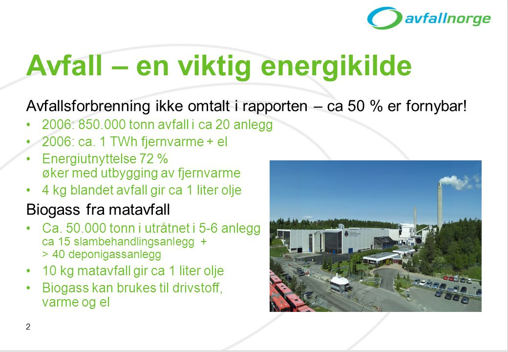 Avfall – en viktig energikilde