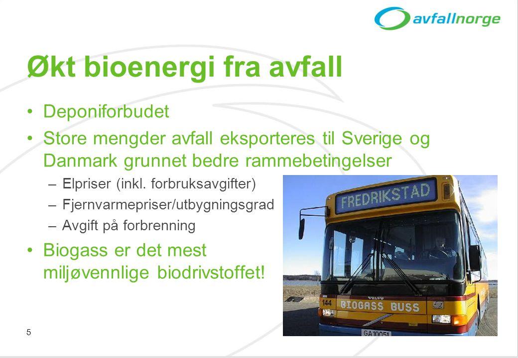 Økt bioenergi fra avfall