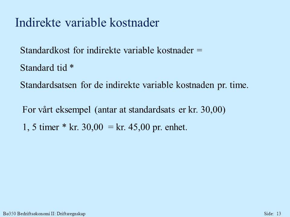 Indirekte variable kostnader