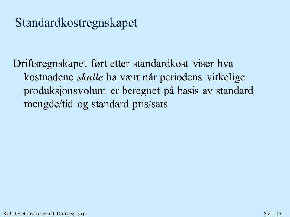 Standardkostregnskapet