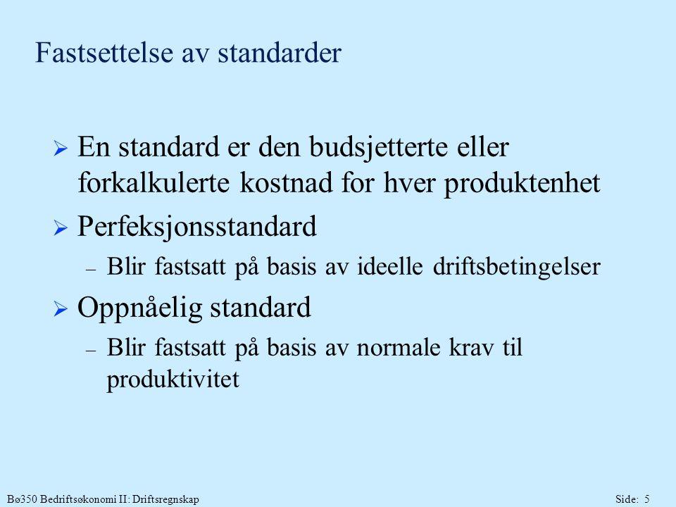 Fastsettelse av standarder