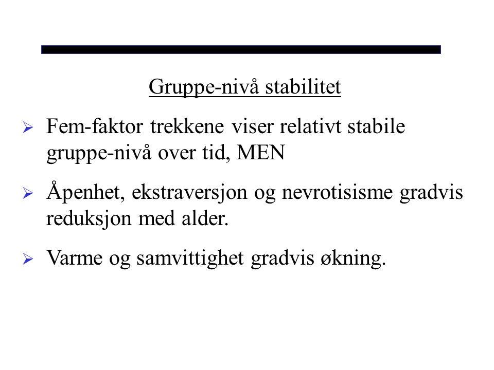 Gruppe-nivå stabilitet
