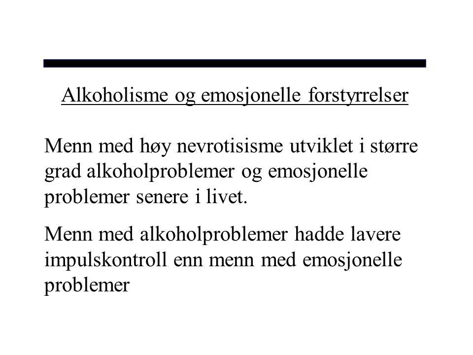 Alkoholisme og emosjonelle forstyrrelser