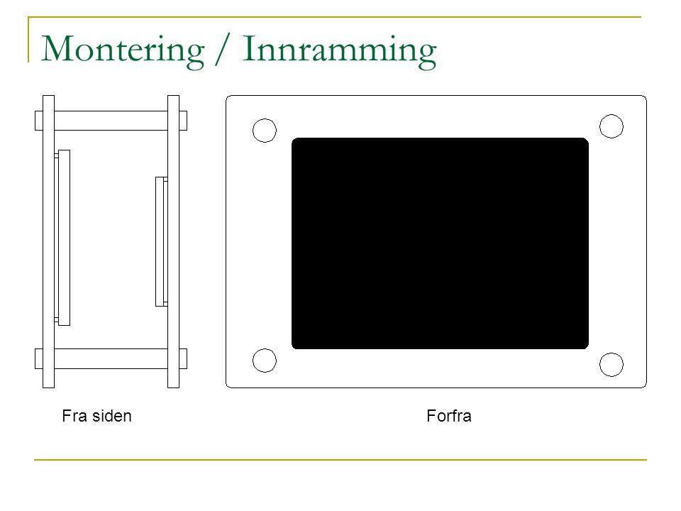 Montering / Innramming