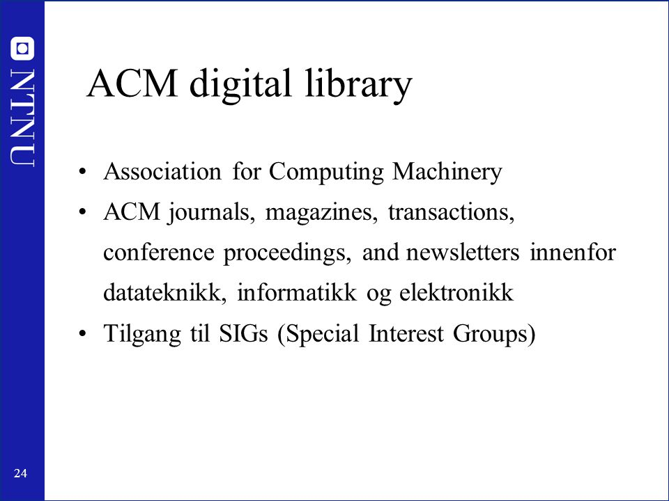 ACM digital library Association for Computing Machinery