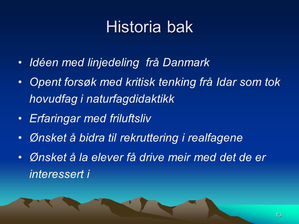 Historia bak Idéen med linjedeling frå Danmark