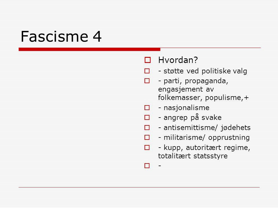 Fascisme 4 Hvordan - støtte ved politiske valg
