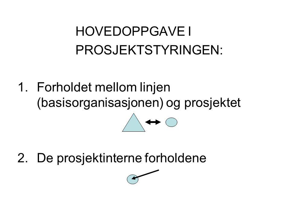 Forholdet mellom linjen (basisorganisasjonen) og prosjektet