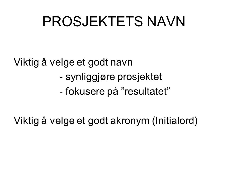 Et godt dating navn