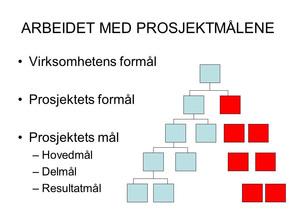 ARBEIDET MED PROSJEKTMÅLENE