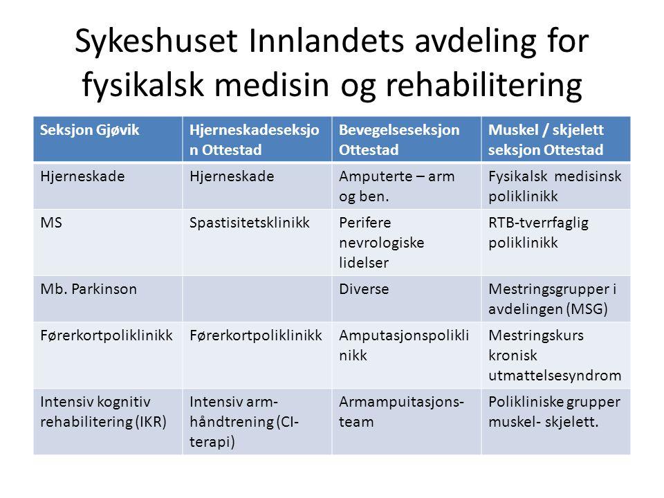 Sykeshuset Innlandets avdeling for fysikalsk medisin og rehabilitering