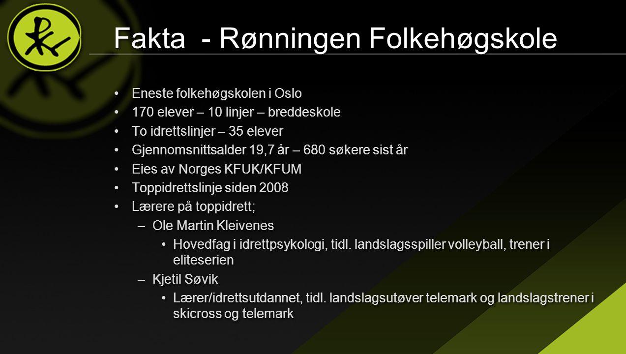 Fakta - Rønningen Folkehøgskole